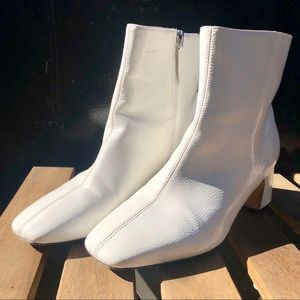 Urban Outfitters White Ankle Booties